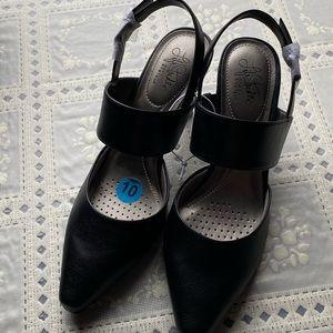 Life Stride Black Soft High Heels Size 10